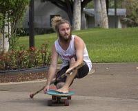 Terra asciutta Paddleboarding immagine stock libera da diritti
