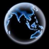Terra asiatica Immagini Stock