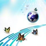 Terra azul Fotos de Stock