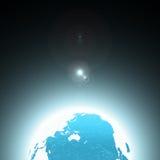 Terra azul Fotografia de Stock Royalty Free
