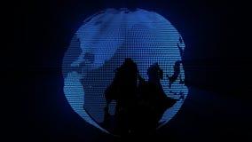 Terra azul da grade que gerencie no vídeo do espaço HD ilustração royalty free