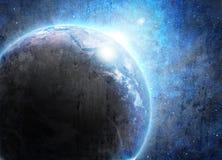 Terra azul no espaço Imagem de Stock Royalty Free