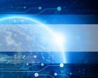 Terra azul tecnologico do planeta Imagem de Stock Royalty Free