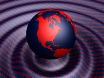 Terra binária ilustração do vetor