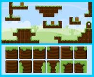 Terra Blocky Platformer Tileset illustrazione vettoriale