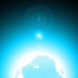 Terra blu Fotografia Stock Libera da Diritti