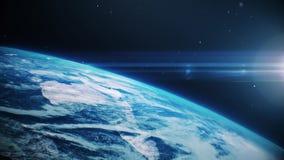 Terra blu nello spazio aperto stock footage