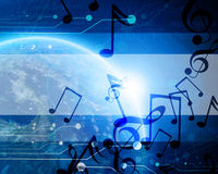 Terra blu tecnologica del pianeta Immagine Stock