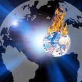 Terra Burning illustrazione di stock