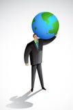 Terra carryinging do homem de negócio Imagem de Stock