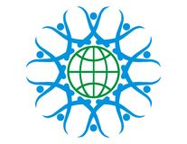 Terra Chain Logotipo-Humana Fotos de Stock