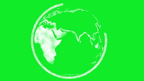 Terra che è schizzata stock footage