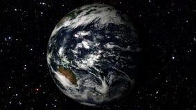Terra che gira su un fondo della stella Loopable stock footage