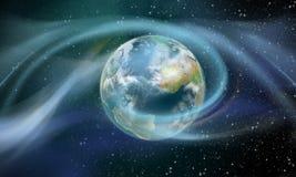 Terra circunvizinha da energia sem fio Foto de Stock Royalty Free