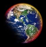 Terra colorida foto de stock