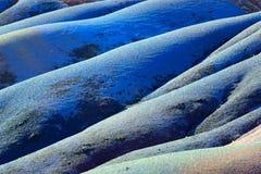 Terra colorida sete mauritius Fotografia de Stock