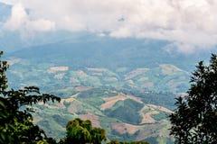 Terra coltivata alta vista Immagine Stock