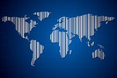 Terra com código de barras ilustração royalty free