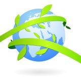 Terra com decorações naturais ilustração royalty free