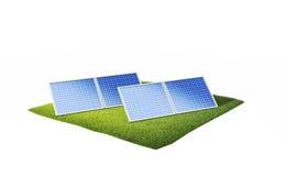 Terra com painéis solares Foto de Stock
