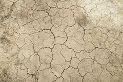 Terra com quebras Imagens de Stock