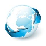 Terra com setas Ilustração Stock