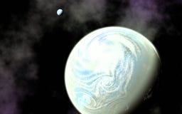 Terra come il pianeta e la sua luna immagini stock libere da diritti
