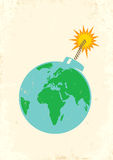 Terra como uma bomba Fotos de Stock Royalty Free