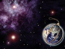 Terra como uma decoração da Natal-árvore Imagens de Stock Royalty Free