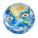 A terra como uma Gaia irritada ilustração do vetor