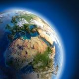 Terra con alto rilievo, illuminato Fotografia Stock Libera da Diritti