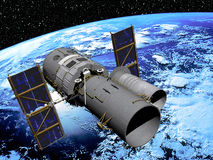 Terra con il satellite illustrazione vettoriale