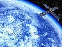 Terra con il satellite Immagini Stock Libere da Diritti