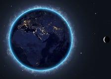 Terra con il sol levante. Elementi di questa immagine Immagine Stock Libera da Diritti