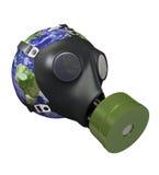 Terra con la maschera antigas Fotografia Stock