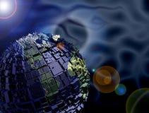 Terra con le costruzioni illustrazione di stock