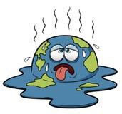 Terra con tempo caldo Fotografia Stock Libera da Diritti