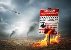 Terra contaminata immagine stock