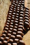 Terra cotta. Been left to dry in the sun glasses royalty free stock images