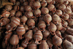 Terra cotta. Crafted from terra cotta cups and adorned stock photos