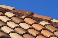 Terra Cotta. Shingles on roof Royalty Free Stock Photo