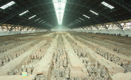 Terra cotta. Warriors in Xian, China Stock Photography