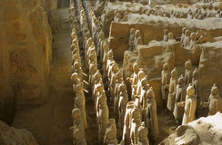 Terra cotta army. Terra-cotta warriors is the ashes of world in xi\'an China Stock Images
