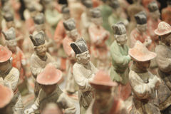 Terra-cotta figures. Of ancient chinese officer Royalty Free Stock Images