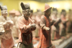 Terra-cotta figures. Of ancient chinese officer Stock Photo