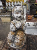 Terra Cotta figurine Wat Chai Mongkol 2. Weathered figurine at Wat Chai Mongkol in Chiang Mai Thailand 2 Stock Photos