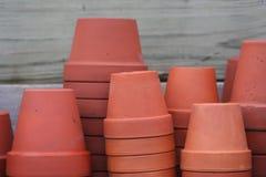 Terra cotta flower pots Stock Photography