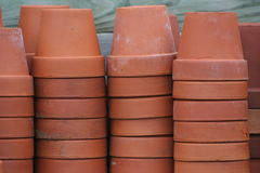 Terra cotta flower pots Royalty Free Stock Images