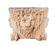 Terra Cotta Lion Head Urn Stock Photos