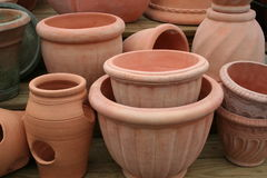 Terra Cotta Pots Royalty Free Stock Photos
